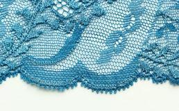 Lichtblauw materieel de textuur macroschot van het bloemenkant Royalty-vrije Stock Foto