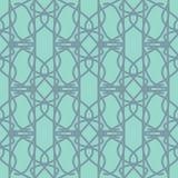 Lichtblauw naadloos patroon met abstracte elementen Royalty-vrije Stock Foto