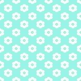 Lichtblauw Naadloos Patroon met Bloemen Royalty-vrije Stock Afbeeldingen