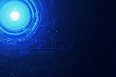 Lichtblauwe abstracte technologie als achtergrond Stock Afbeelding
