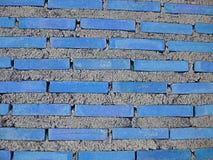 Lichtblauwe baksteen stock foto's
