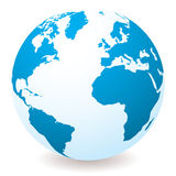 Lichtblauwe bol royalty-vrije illustratie