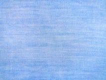Lichtblauwe, denim katoenen stoffentextuur, canvasachtergrond stock afbeeldingen