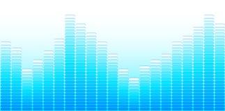 Lichtblauwe equaliser Stock Foto's