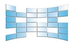 Lichtblauwe geïsoleerdet monitors - - eps Stock Afbeelding