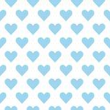 Lichtblauwe harten op een witte achtergrond Het naadloze patroon van het hart vector illustratie