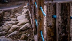 Lichtblauwe Kabel Royalty-vrije Stock Afbeeldingen