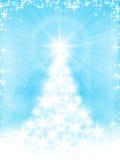 Lichtblauwe Kerstkaart Royalty-vrije Stock Afbeelding