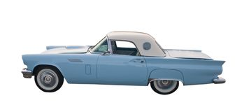 Lichtblauwe klassieke coupé Stock Foto