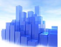 Lichtblauwe Stad Stock Fotografie
