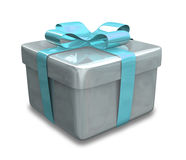 Lichtblauwe Verpakte 3D gift Stock Foto's