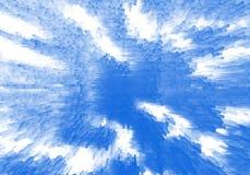 Lichtblauwe witte uitgedreven gestippelde digitale kubussenzaken Stock Afbeeldingen