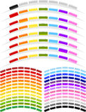 Lichtbogen-Form-Menü-Tasten lizenzfreie stockbilder