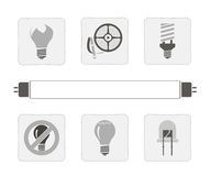 Lichtbronnen. royalty-vrije illustratie