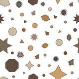 Lichtbruine, bruine vector naadloze lay-out met cirkels, sterren royalty-vrije illustratie
