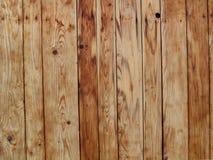 Lichtbruine houten de muurachtergrond van de planktextuur Royalty-vrije Stock Afbeelding