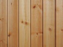 Lichtbruine houten muurachtergrond Muur van de houten bouw Royalty-vrije Stock Fotografie