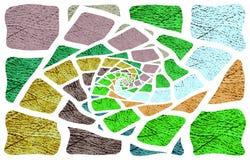Lichte achtergrond De beelden divergeren in een spiraal van het midden aan de randen stock illustratie