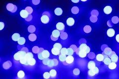 Lichte achtergrond van Blured de purpere en blauwe Kerstmis Stock Foto's