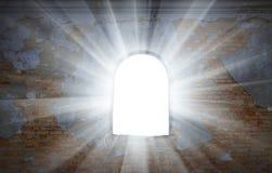 Lichte afstraffing van een venster stock foto
