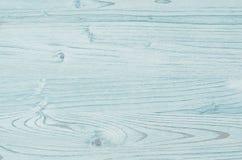 Lichte aqua blauwe uitstekende houten textuur Hoogste mening, houten raad royalty-vrije stock foto's