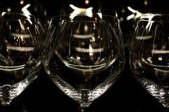 Lichte bezinningen over glas Royalty-vrije Stock Foto