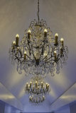 Lichte chandlers met kristallen Royalty-vrije Stock Afbeeldingen