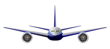 Lichte commerciële jet Stock Afbeeldingen
