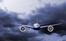 Lichte commerciële jet Stock Foto