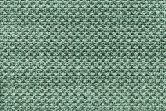 Lichte cyaan textielachtergrond met geruit patroon, close-up Structuur van de stoffenmacro stock foto's