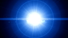 Lichte de flitsrug van de lensgloed stock illustratie