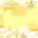Lichte de herfstachtergrond Stock Fotografie