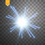 Lichte digitale ster op de transparante achtergrond Royalty-vrije Stock Fotografie