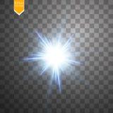 Lichte digitale ster op de transparante achtergrond Stock Afbeelding