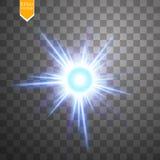 Lichte digitale ster op de transparante achtergrond Royalty-vrije Stock Foto's