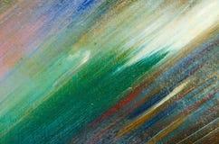 Lichte en donkere vlekken van waterverfverf op het canvas Stock Afbeeldingen