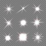 Lichte flitsen stock illustratie