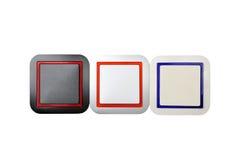 Lichte (geïsoleerde) schakelaar Royalty-vrije Stock Foto