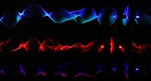 Lichte golven stock afbeeldingen