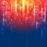 Lichte Gouden en blauwe abstracte vectorachtergrond Stock Afbeeldingen
