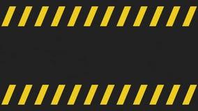 Lichte het tekenachtergrond van de grunge zwarte en gele voorzichtigheid Stock Foto