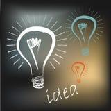Lichte ideevector Stock Afbeeldingen