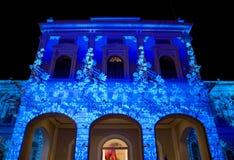 Lichte Installatie; Nationaal Museum Singapore Royalty-vrije Stock Fotografie