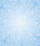 Lichte katoenen bloemendeken van sneeuwvlokken Stock Fotografie