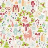 Lichte Kerstmisachtergrond Stock Afbeeldingen