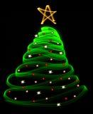 Lichte Kerstmisboom royalty-vrije stock afbeelding