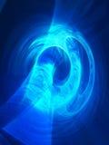 Lichte kunst - bezinningen, brekingen, blauwe kleur Royalty-vrije Stock Afbeeldingen