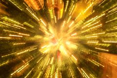 lichte lijn van Kerstmisboom Stock Afbeelding