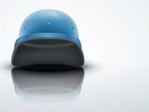 Lichte Militaire helm Als achtergrond van de Verenigde Naties stock illustratie