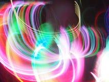 Lichte motie op de donkere achtergrond Royalty-vrije Stock Afbeeldingen